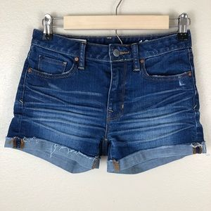 Gap 1969 Cut-Off Cuffed Hem Jean Shorts
